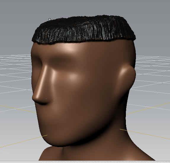 Mudbox sculpting - hair